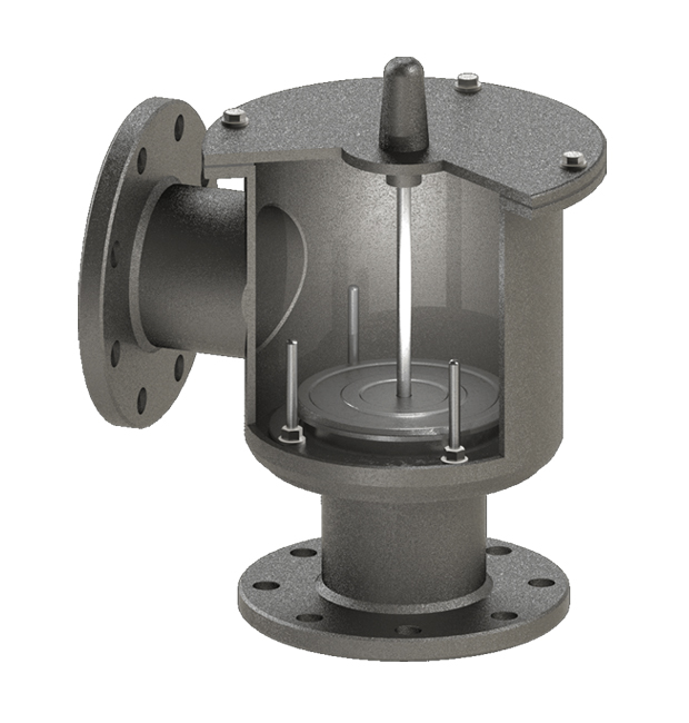 Pressure Relief Valve (Top mounted, pipe-away, weight loaded)
