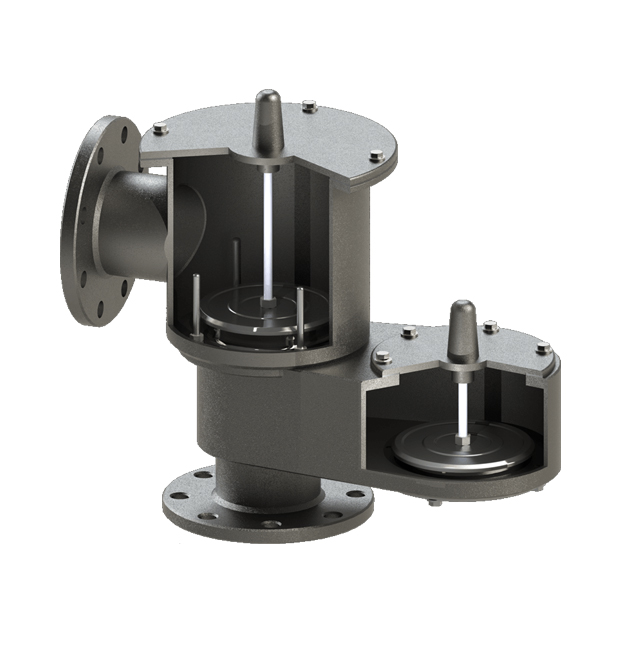 Pressure Vacuum Relief Valve (Top mounted, end-of-line, weight-loaded)